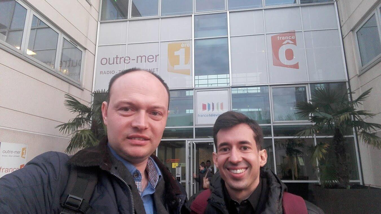 Nicolas Lisiak et Jérôme Hoarau - les organisateurs du championnat de France de Lecture Rapide à La Sorbonne