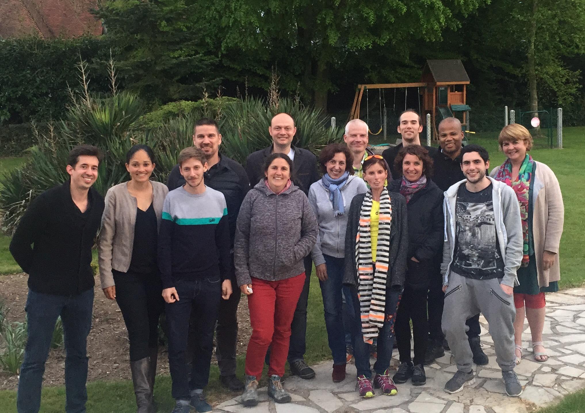 La 2ème promotion de Coachs Apprendre à Apprendre lors du séminaire de Rouen (avec Eric Alard, coach Olympique)